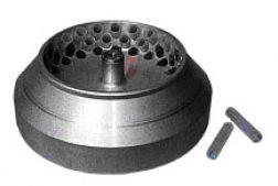 Ротор угловой, расчитан на 60 пробирок, объемом 25 мл каждая.  Используется при работе с центрифугами ОС-6М и РС-6.